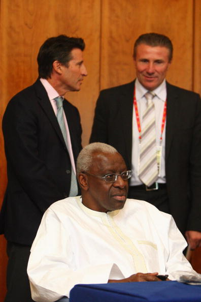 Athletics legends Seb Coe and Sergey Bubka are going head to head to replace Limine Diack as IAAF President ©AFP/Getty Images