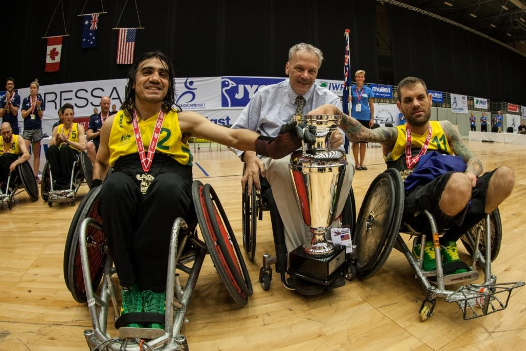 Australia's success at the 2014 International Wheelchair Rugby Federation World Championship has been recognised by the AIS ©IWRF/Brian Mouridsen