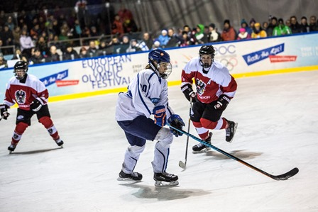 Austria were comfortably beaten by Finland in the ice hockey competition ©EYOF 2015