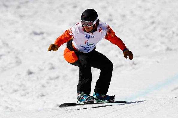 Bibian Mentel-Spee is one of four riders to maintain her 100 per cent record in the the head-to-head format of the IPC Alpine Skiing Para-Snowboarding World Cup ©Getty Images