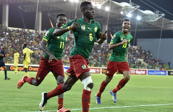 Cameroon defender Ambroise Oyongo rescued a point for his side with an 84th minute equaliser against Mali ©Getty Images