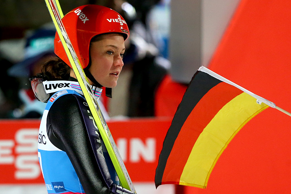Carina Vogt was forced to settle for second place in her home town ©Bongarts/Getty Images