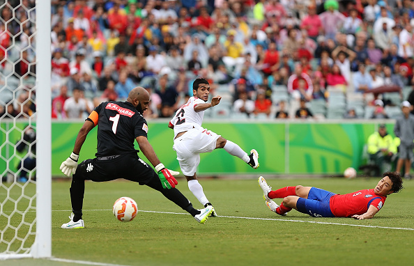 Cho Young-cheol's goal earned South Korea a 1-0 win against Oman at the Canberra Stadium ©Getty Images