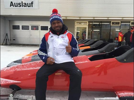 Corie Mapp won the inaugural Para Bobsleigh World Cup event in Austria ©bajanjoe
