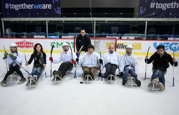 Croatia's Paralympic Committee held the demonstration event to attract players and showcase the sport for media ©Croatian NPC