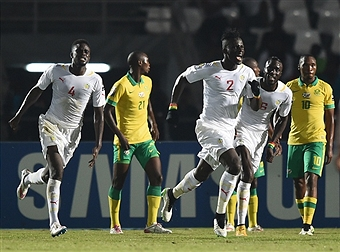 Defender Kara Mbodji scored the equaliser for Senegal as they drew 1-1 with South Africa ©Getty Images