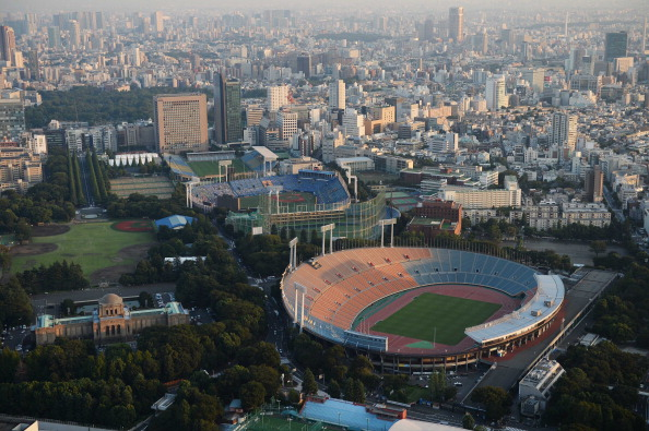 Demonstrators are to stage a protest walk against the Tokyo National Stadium demolition ©Getty Images