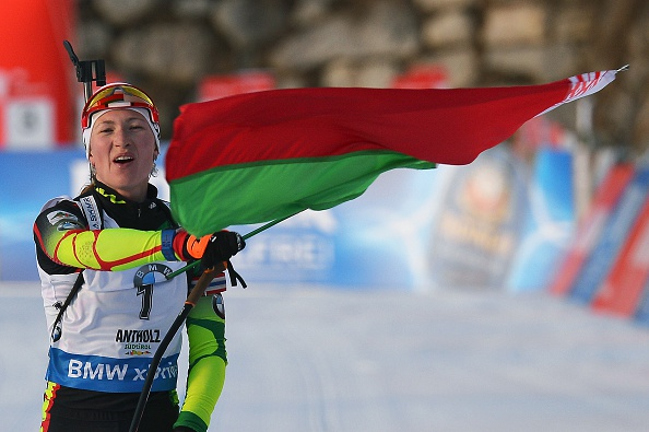 Domracheva reigned supreme once again with a dominant victory in the pursuit event in Antholz ©Getty Images