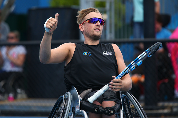 Dylan Alcott will face David Wagner in the quad wheelchair singles final ©Getty Images