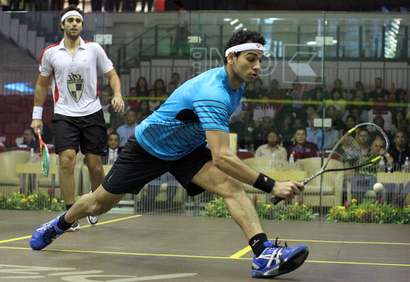 Egypt's Mohamed Elshorbagy has retained his world number one ranking for a third consecutive month ©Getty Images