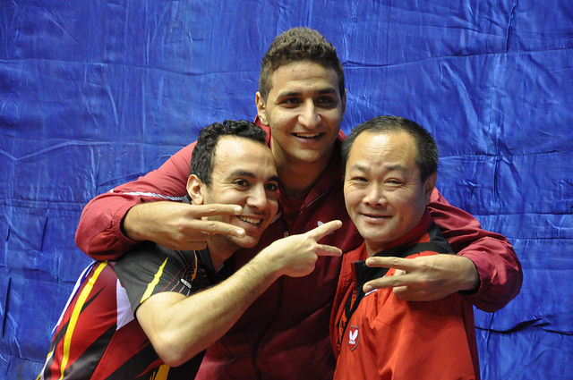 Egypt's men's team battled past the ferocity of ITTF Male Table Tennis Star Quadri Aruna to overcome Nigeria 3-2 in the final ©ITTF