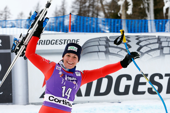 Elena Fanchini has won the FIS World Cup event in Cortina d'Ampezzo ©Getty Images