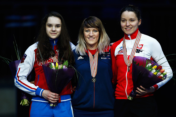 Elise Christie claimed the European title after a second place in the 3000 metre Grand Final ©Getty Images