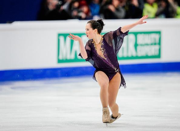 Elizaveta Tuktamysheva won European gold for the first time, having previously won a bronze medal ©AFP/Getty Images