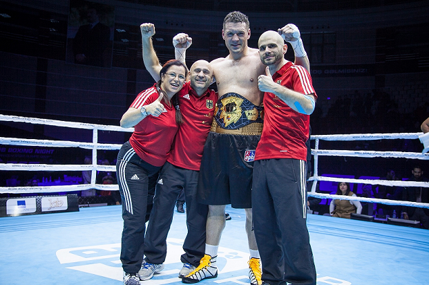 Erik Pfeifer has become the AFP Super Heavyweight Champion ©AIBA