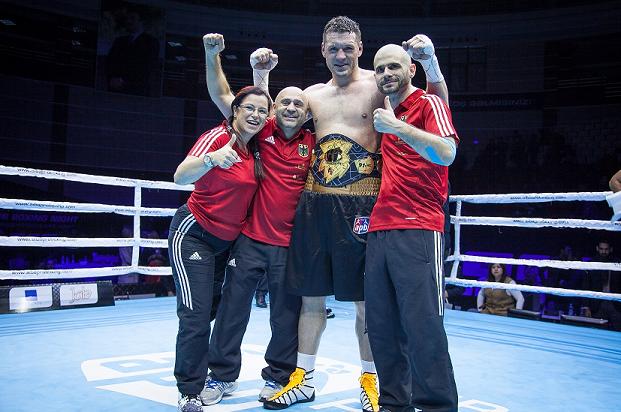 Erik Pfeifer has become the AFP Super Heavyweight Champion ©AIBA