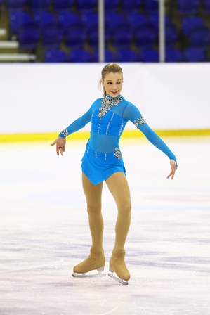 Figure skater Danielle Harrison is one of 15 athletes chosen to represent Team GB at the 2015 European Youth Olympic Festival ©NISA