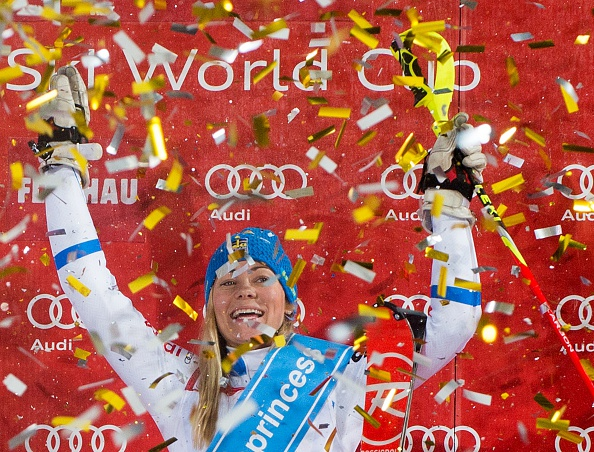Frida Hansdotter claimed her second World Cup victory with a blistering performance in Austria