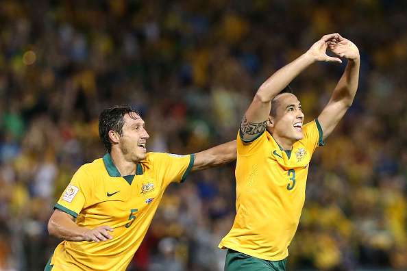 Full-back Jason Davidson bagged the crucial second goal after just 14 minutes as Australia sent the home crowd into raptures by reaching the final ©Getty Images