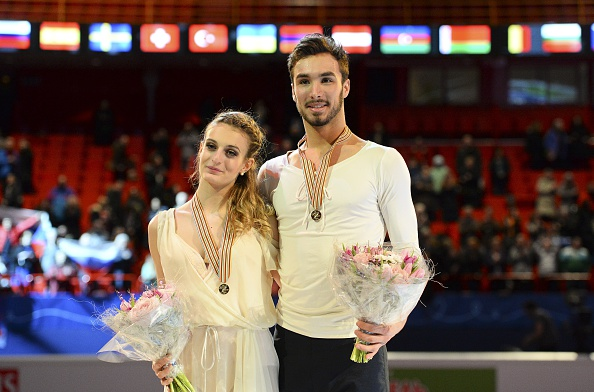 Gabriella Papadakis and Guillaume Cizeron won the free dance programme title in Stockholm ©Getty Images