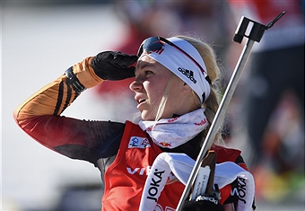 Germany's Miriam Gössner was victorious in the women's event in Poland ©Getty Images