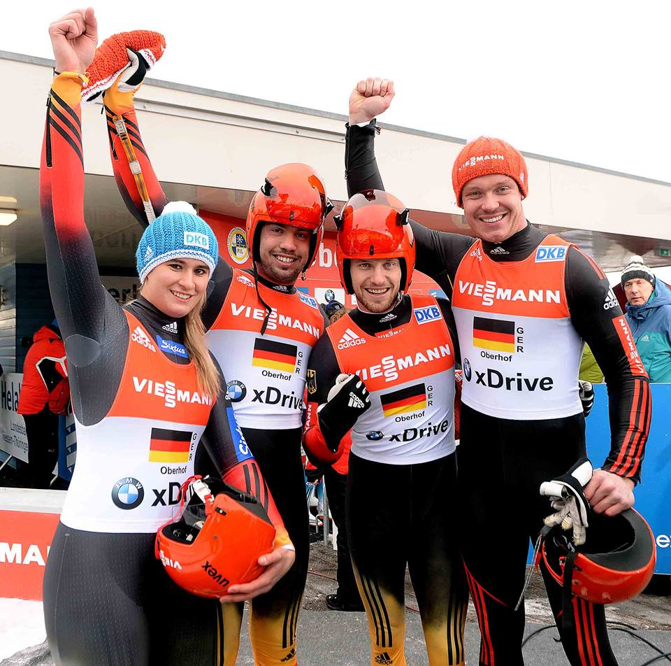 Germany's dominance continued in to the team relay as they secured their third victory in Oberhof ©FIL