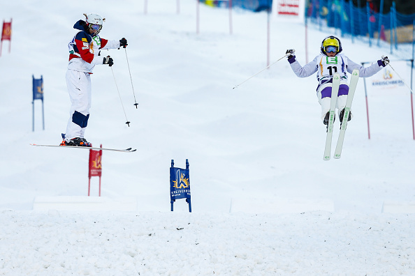 Hannah Kearney won dual moguls freestyle skiing gold today ©Getty Images