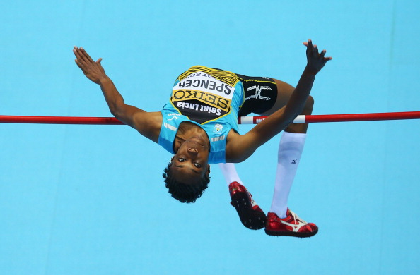 High jumper Levern Spencer won Saint Lucia's only medal, a bronze, at senior level at the Glasgow 2014 Commonwealth Games ©Getty Images