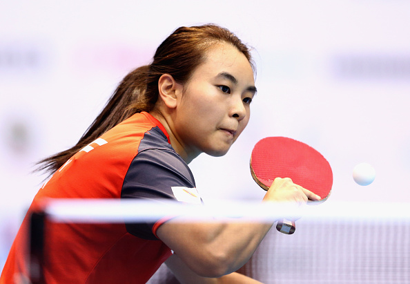 Isabelle Li won the final match, to send Singapore through to the semi final at the expense of Hong Kong ©Getty Images