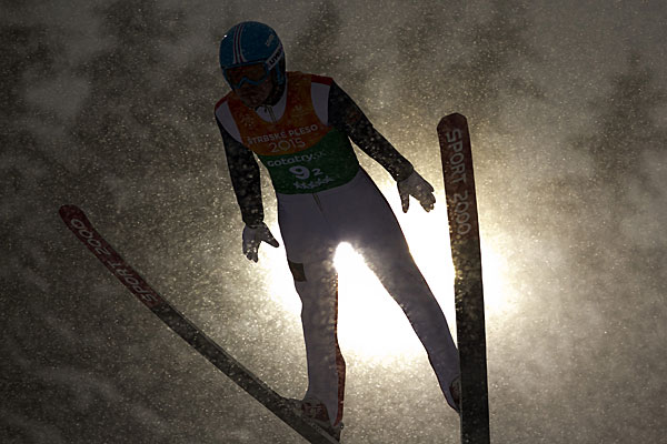 Japan inflicted a rare defeat on Russia in the mixed team ski jumping competition ©FISU