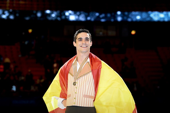 Javier Fernandez became the first man since Alexander Fadeev to win three European titles in a row ©AFP/Getty Images