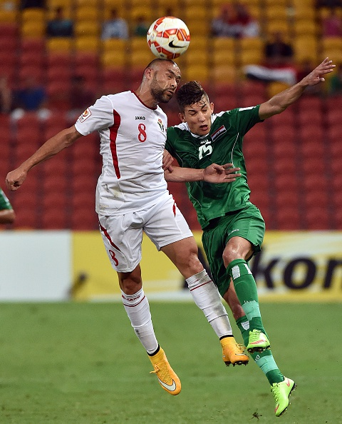 Jordan lost their Asian Cup opener against Iraq ©AFP/Getty Images
