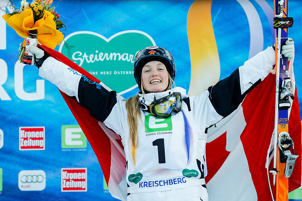 Justine Dufour-Lapointe followed up her Olympic gold by winning the moguls event at the Freestyle Ski and Snowboard World Championships ©Getty Images