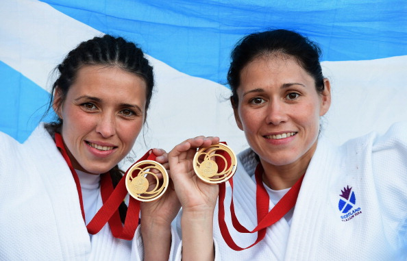 Sisters Kimberley and Louise Renicks won two of six Scottish judo gold medals at the Glasgow 2014 Commonwealth Games ©Getty Images