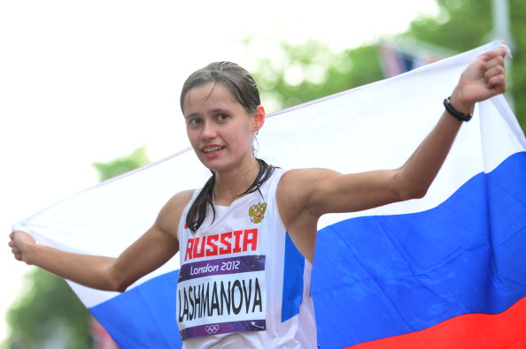 Lashmanova won Olympic gold in London and could still defend her title in Rio if the claims are found to be unproven ©Getty Images