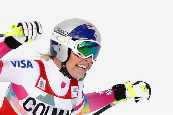 Lindsey Vonn has equalled the women's record for the most World Cup wins with victory in Italy ©Getty Images