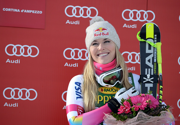 Lindsey Vonn rewrote the history books today as she secured a record 63rd World Cup win at the FIS Alpine Skiing World Cup in Cortina d'Ampezzo ©Getty Images