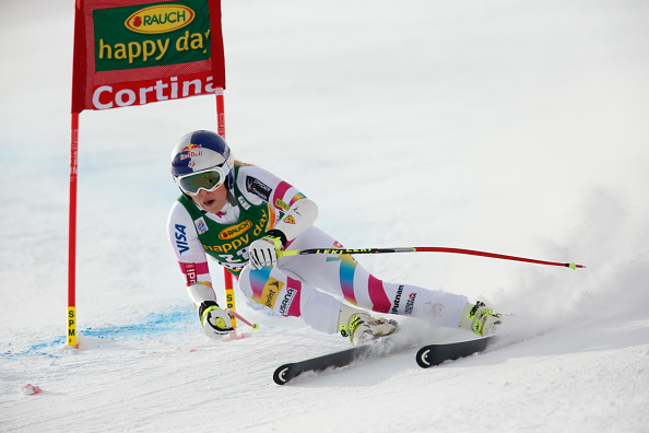 Lindsey Vonn secured victory in the Super-G race to surpass Austrian Annemarie Moser-Pröll's 35-year-old record of 62 World Cup wins ©Getty Images