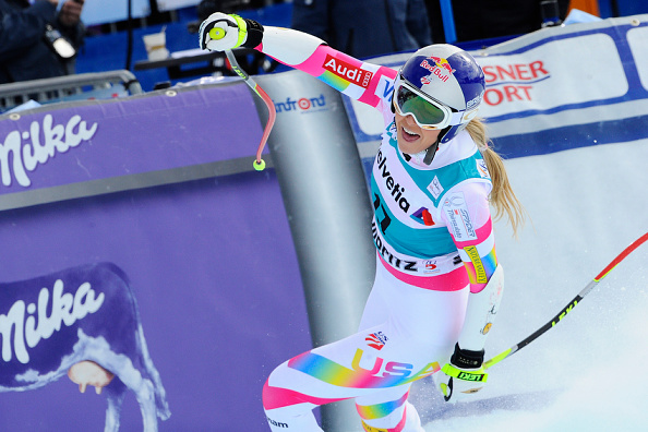 Lindsey Vonn took first place in the women's Super-G in Switzerland ©Getty Images