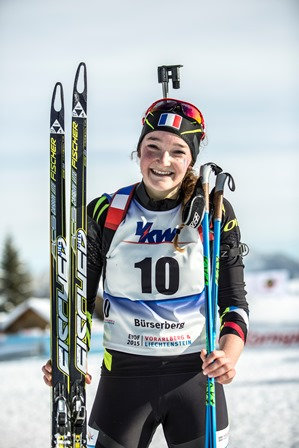 Lou Jeanmonnot is all smiles after her triumph in Bürserberg ©EYOF 2015