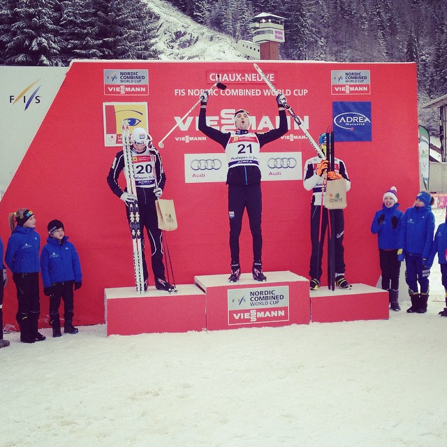 Magnus Moan has won the FIS Nordic Combined World Cup in Chaux-Neuve ©FIS
