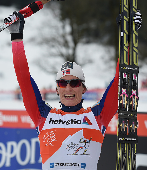 Marit Bjøergen has won the first three stages of the Tour de Ski ©Getty Images