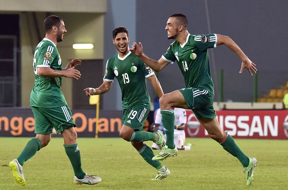 Nabil Bentaleb scored a late pile driver to double Algeria's lead in their 2-0 victory against Senegal ©Getty Images