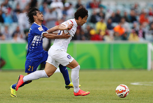 Nam Tae-Hee was on hand to give South Korea an unconvincing 1-0 win against Kuwait as his side booked their place in the quarter finals ©Getty Images