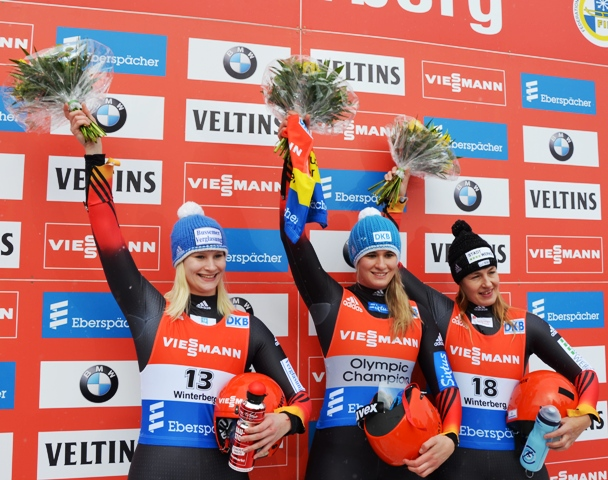 Natalie Geisenberger collected her 30th World Cup victory with a win in Winterberg ©Damen Web/FIL