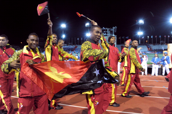 Papua New Guinea will be seeking an improvement on the third place on the medals table achieved at the 2011 Games in Noumea, New Caledonia ©AFP/Getty Images
