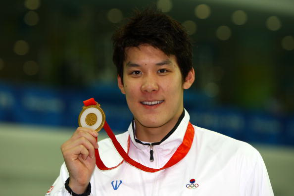 Park Tae-Hwan won gold in Beijing in the 400m event but his agency have announced he has failed a drugs test