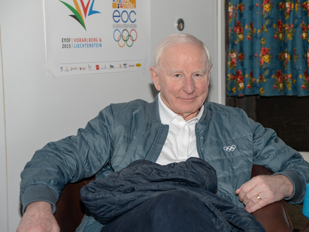 Patrick Hickey, President of the European Olympic Committees, is not getting carried away with the success of the first-ever Olympic event to be co-hosted by two nations ©ÖOC/GEPA