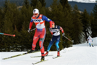 Petter Northug produced an excellent performance to maintain his lead at the top of the mens Tour de Ski rankings ©Getty Images