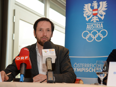 Philipp Groborsch, chief executive of the 2015 European Youth Olympic Festival, claims the costs of the Games are under control ©ÖOC/GEPA